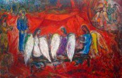 Abraham en de-drie Engelen Marc Chagall 1966